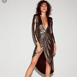 Express Metallic low cut dress